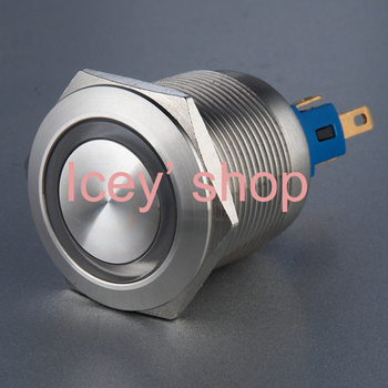 Latching Anti-vandal Push Button switch  SL22 (Dia.22mm) Ring illuminated Stainless steel