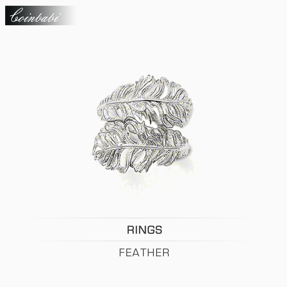 Rings Feather 925 Sterling Silver Blackened Trendy Gift For Women & Men Thomas style Rebel at Heart Ring TS New Fashion Jewelry(China (Mainland))
