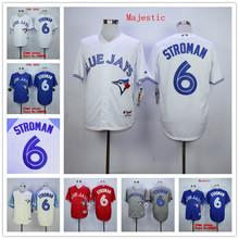 Marcus Stroman Jersey Toronto Blue Jays 6 Marcus Stroman Baseball Jerseys White Blue Red Grey(China (Mainland))