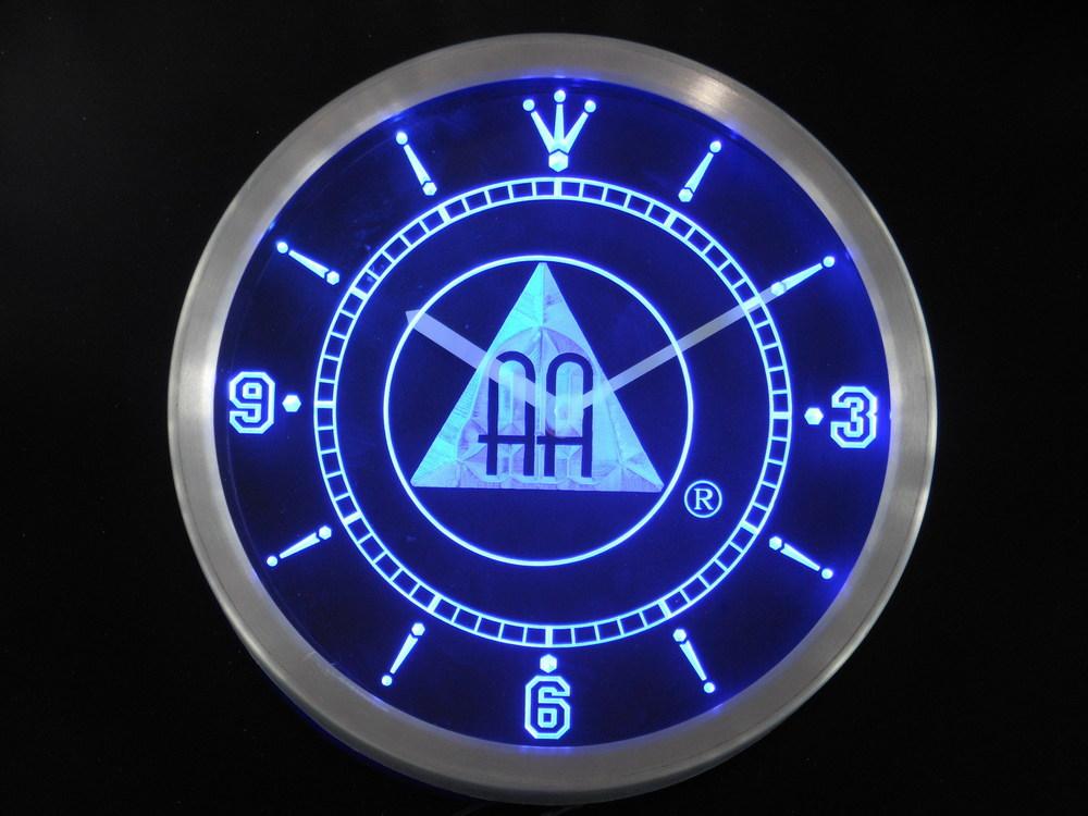 nc0134 Alcoholics Anonymous AA Neon Sign LED Wall Clock(China (Mainland))