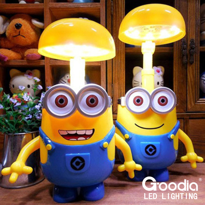 Minions Charging Lamp Learning Lamp table lamp Led Night Light Use As Money Box Minions Piggy Bank For Children Gifts<br><br>Aliexpress