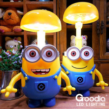 Minions Charging Lamp Learning Lamp table lamp Led Night Light Use As Money Box Minions Piggy Bank For Children Gifts(China (Mainland))