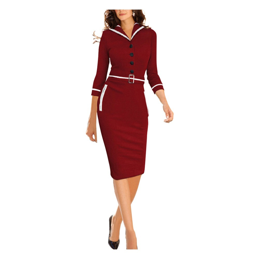 Business Dresses Red