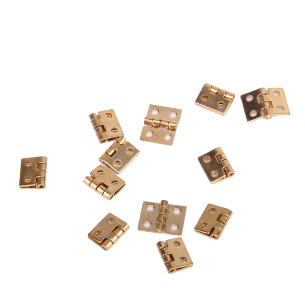 12pcs Cabinet Closet Mini Hinge for 1/12 Dollhouse Miniature Furniture Golden Pretend Play Furniture Toys Supplies Accessories(China (Mainland))