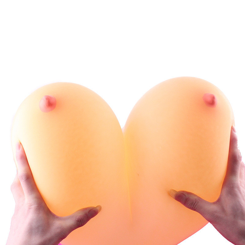 Free shipping 10pcs funny balloons women breast shape latex balloon Novelty Toys For Sex Party(China (Mainland))