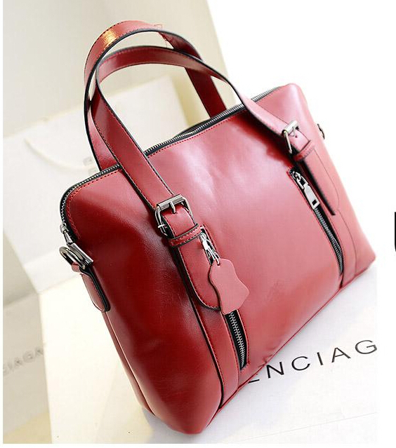 Genuine leather 2015 Summer fashion women messenger bag briefcase female ol formal fashion big leather bags Best Sellers(China (Mainland))