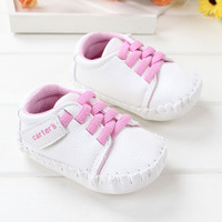 Baby Girls Shoes Carter's Prewalker Babe Girl Sneakers PU First Walkers Spring Autumn Toddlers Footwear Free Drop Shipping 2014