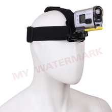 Free shipping Mini Camera Harness Adjustable Elastic Head Strap Mount/ With Plastic Buckle+Adapter For Sony Action Camera