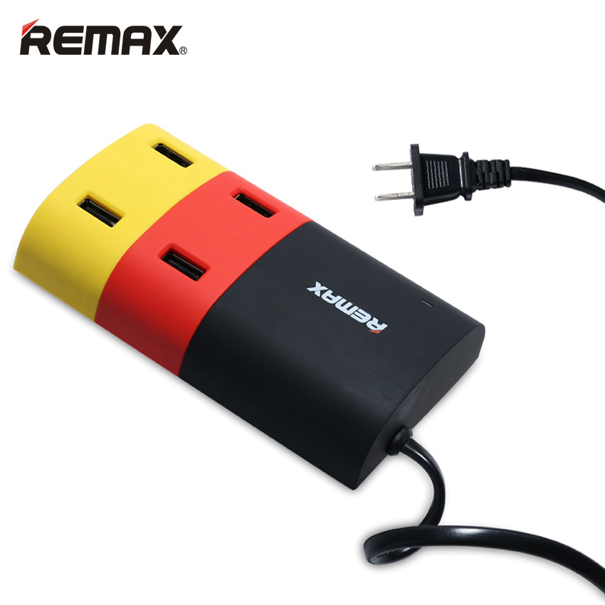 REMAX USB Hub Charger Smart Socket 4 Ports Travel Adapter Charger Charge Extension Cable for iPhone Samsung Xiaomi MP3 Tablet PC(China (Mainland))