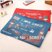 Free shipping/ Leap in London zipper series File folder/ documents A4 file bag / canvas  bag / Filing Production 20pcs/lot