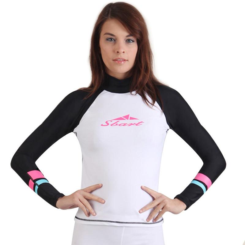 Buy sbart rash guard women long sleeve rashguard swim for Womens rash guard shirts