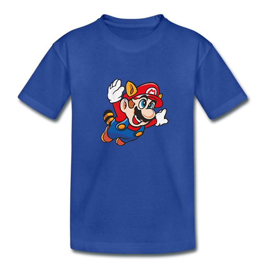 Fashion Super Mario Kid T Shirt Cotton Multiple Colors Designs Short Sleeve Men Super Mario Cartoon Children T-shirt(China (Mainland))