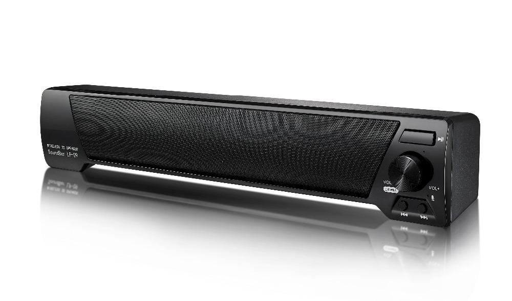 LP-09 Slim Magnetic Wireless Soundbar HIFI Box Bluetooth Subwoofer Speaker Boombox Stereo Portable Hands-free Speaker for TV PC(China (Mainland))