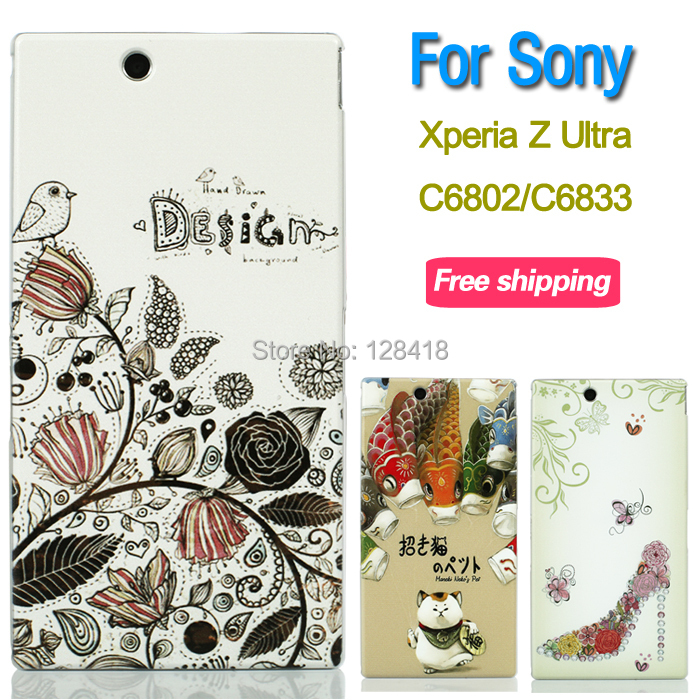 Ultra-thin 3D case cover Sony Xperia Z Ultra XL39H c6802 c6833 back scrub phone protective hard transparent - Mobile phone's lover store