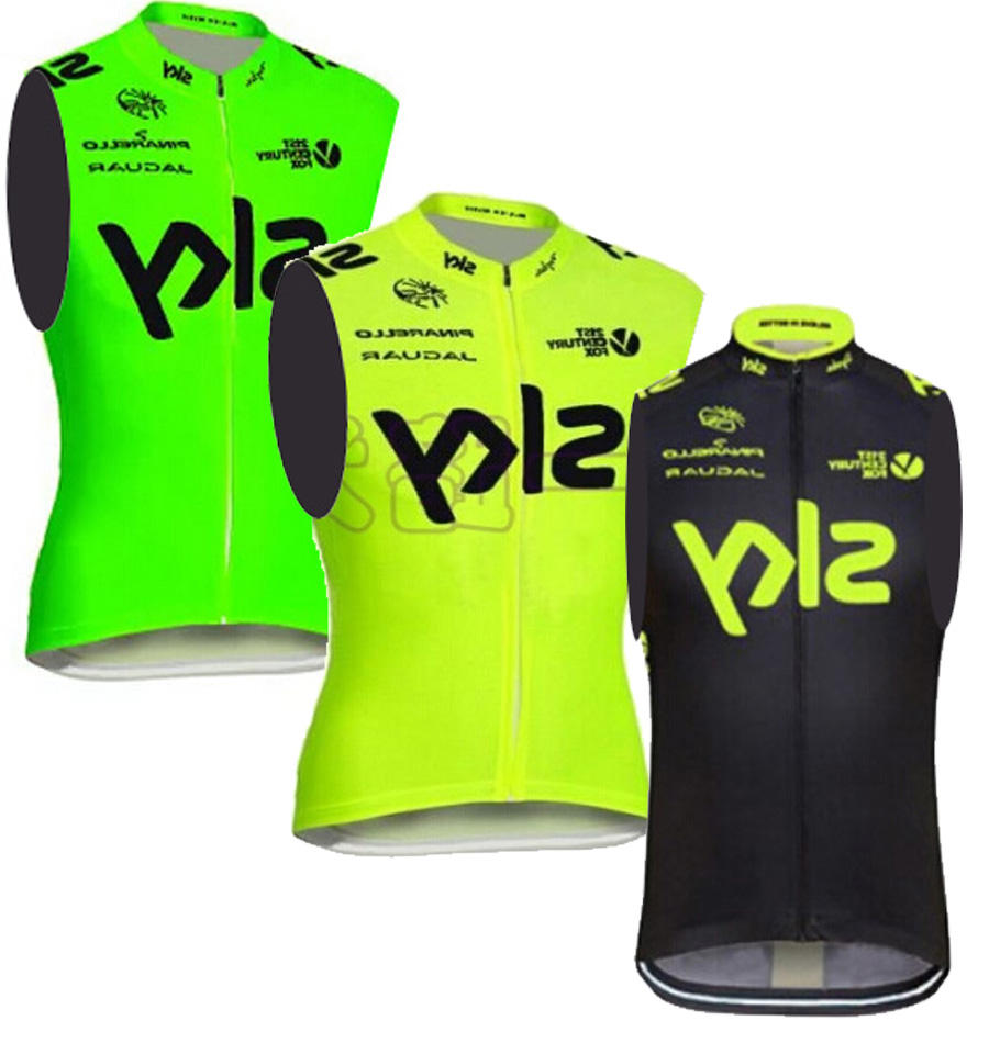 3 color! Fluorescent yellow, green sleeveless Cycling Jersey / cycling team edition bike clothes / sports cycling vest(China (Mainland))