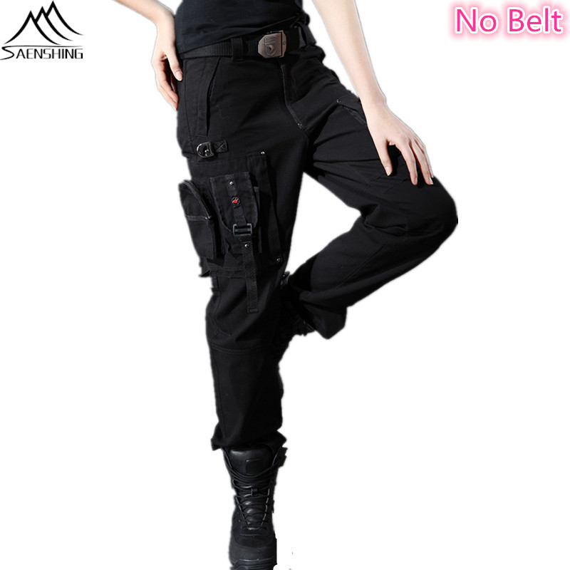 New Women39s Army Cargo Outdoor Hiking Straight Mid Waist Sports Casual