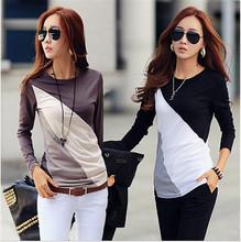 Blusas Femininas 2015 Autumn Fashion Cotton Blouse Women Shirts Blouses Casual O Neck Long Sleeve Cotton Tops(China (Mainland))