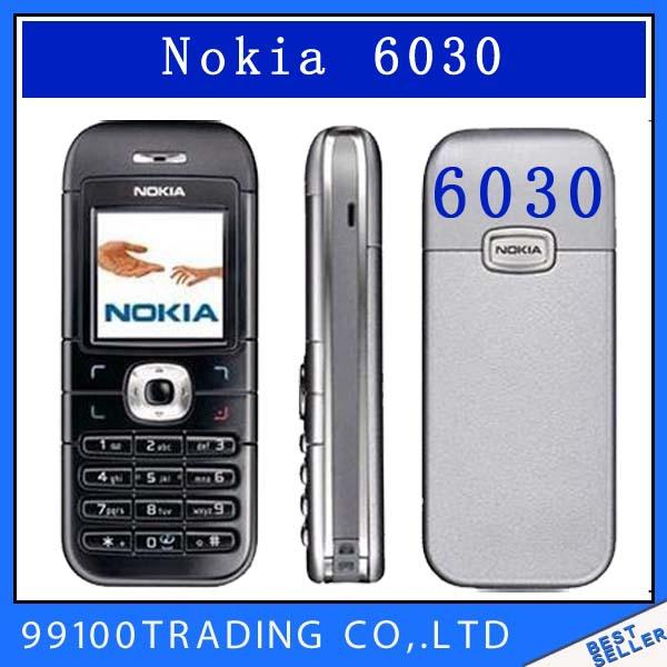 6030 Original Unlocked NOKIA 6030 mobile phone FM JAVA MP3 Cheap Cell phone free shipping refurbished 1 year warranty(China (Mainland))