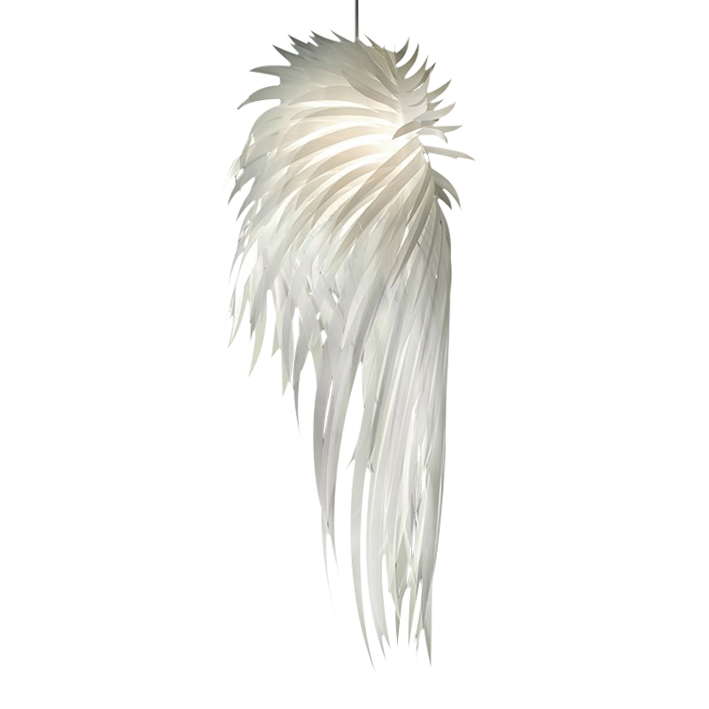 Modern Pendant Light Romantic Angel Wings PVC Feather Bedroom Hanging Lamp Lamparas Lustre E27 110-240V(China (Mainland))