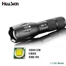 Ultra Bright 5 Mode CREE XML T6 3800LM Zoomable Led Flashlight Waterproof Torch Lights Bike Light Free Shipping(China (Mainland))