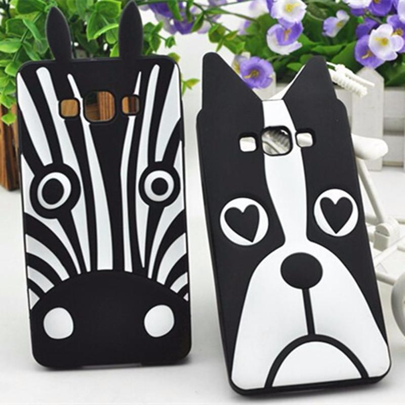 Lovely 3D Dog Zebra Soft Silicon Case for Samsung Galaxy J5 J500 J500F Phone Cover Case for Samsung Galaxy J5 J500F J500(China (Mainland))