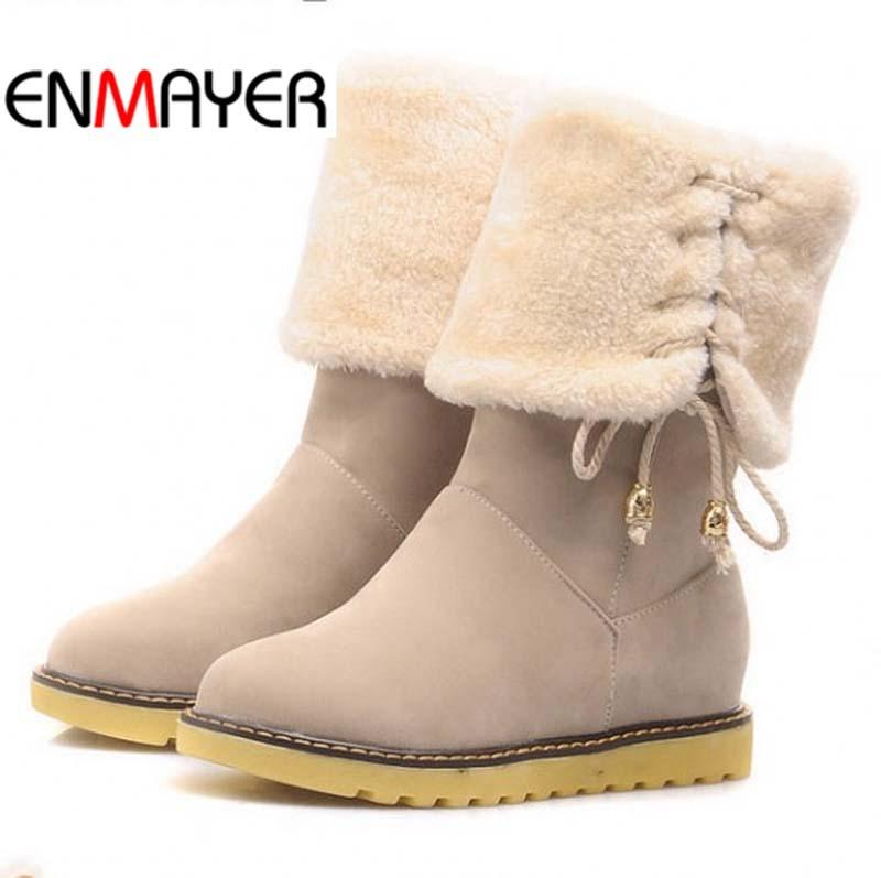 ENMAYER 2015 New BOOTS Fashion Winter Women Riding Boots Female FLATS
