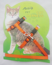6 Color Cat Harness Puppy Harness With Leash Length 120cm  Width 1cm Cat Harness With Retail Package Cat Chest Strap Leash Set(China (Mainland))