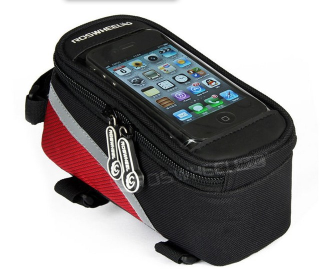 Free shipping 1 piece Cycling Bike Bicycle Waterproof Frame Pannier Front Cell Phone Tube Bag Case