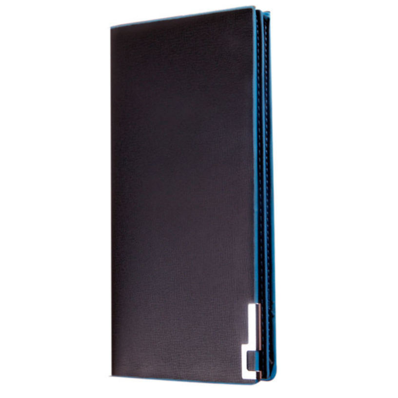 Best Deal New Fashion Men Business Style Wallets Long Thin Wallet Male Money Purses Flip Up