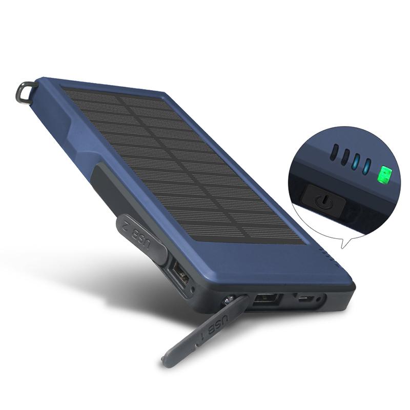YFW QC3.0 Quick Solar Charger 10000mAh Dual USB Poverbank 2.4A Fast Power Bank External Power Battery for iPhone Huawei Xiaomi(China (Mainland))