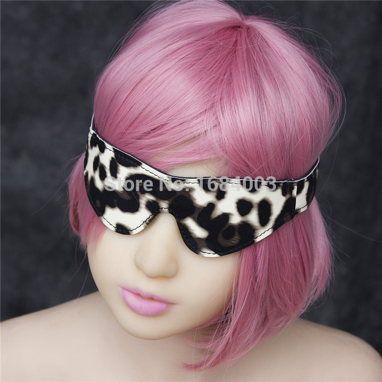 Sex Games Flirting Sex Eye Mask Eye Patch PU Leather Goggles Sex Toys For Women(China (Mainland))