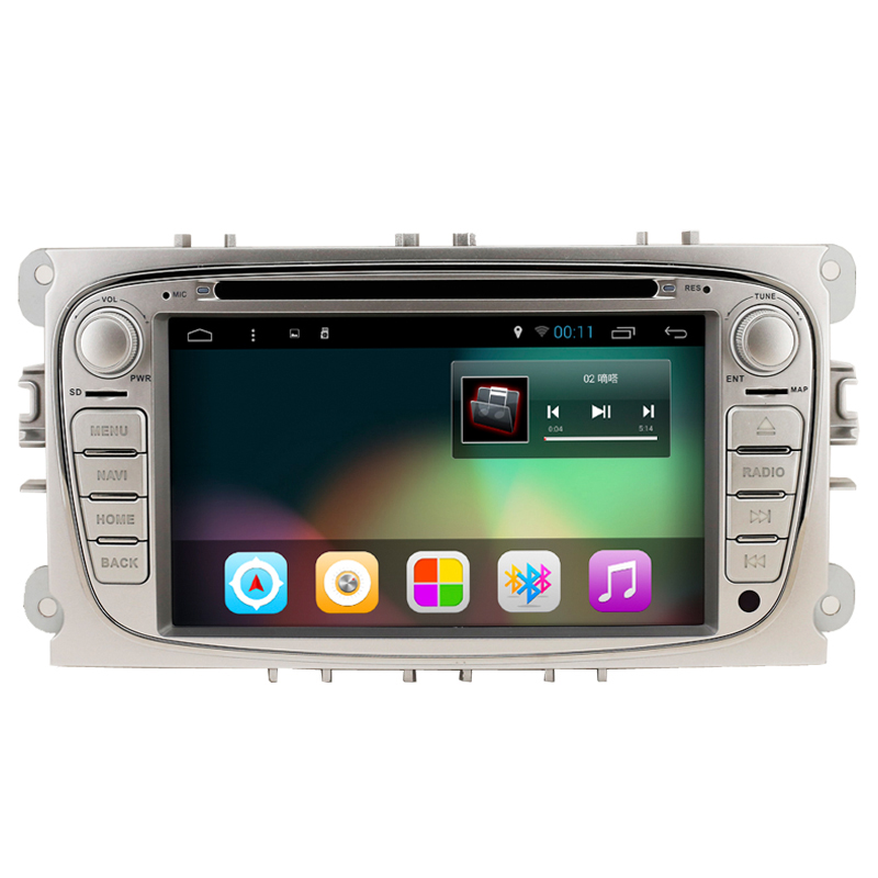Android 4.4 Quad Core 1024*600 Double 2 Din Car DVD Player For Ford Focus Mondeo Galaxy Audio Radio Stereo Headunit GPS Navi(China (Mainland))