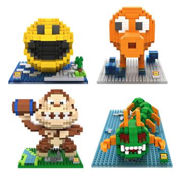 LOZ Пикселей Фигура Строительные Блоки Игрушка Pacman Pac Man Орангутанг Осьминог Chilopod Сборка Фигура Игрушки Рождественский подарок 14 + Аниме