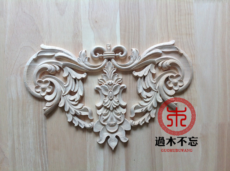 Wood dongyang wood carving wood fashion applique ofhead fireplace applique gate flower decoration(China (Mainland))