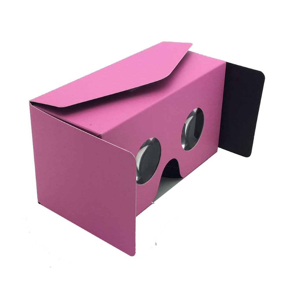 50pcs/lot Portable DIY Google Cardboard 3D VR Box Virtual Reality Movie Game Glasses For 4.0-6.0″ Screen iOS Android Smartphone
