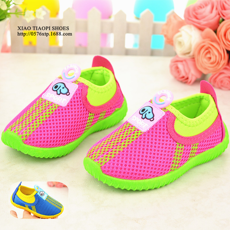 2015 summer The new boys and girls shoes breathable sports shoes hot baby girls dog fashion neakers 1-4 years(China (Mainland))