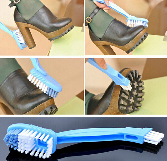 High Quality Universal 2 Side Shoe Cleaning Brush Boot Shoes Cleaner Eraser Polish Random color(China (Mainland))
