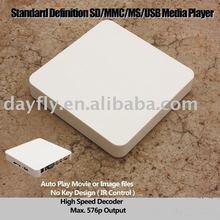 Free shipping!Adverting player box/SD/MMC USB media player/TV Card player Auto play/Iplayer TV009(Hong Kong)
