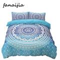 Bohemia bedding sets 3d boho Mandala blue printing duvet cover set bedsheet Pillowcase king size Cotton