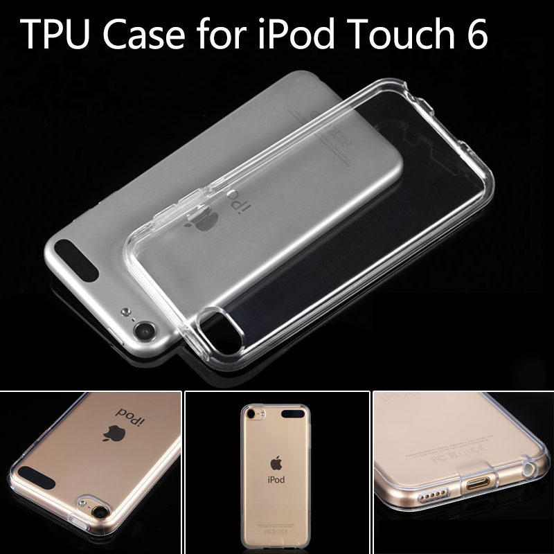 for iPod Touch 6 Case Transparent Durable TPU Protective Phone Case Back Cover Gel Shell for iPod Touch 6(China (Mainland))