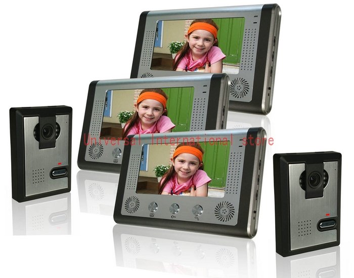 "7"" color TFT LCD video doorphone,video intercom system(China (Mainland))"