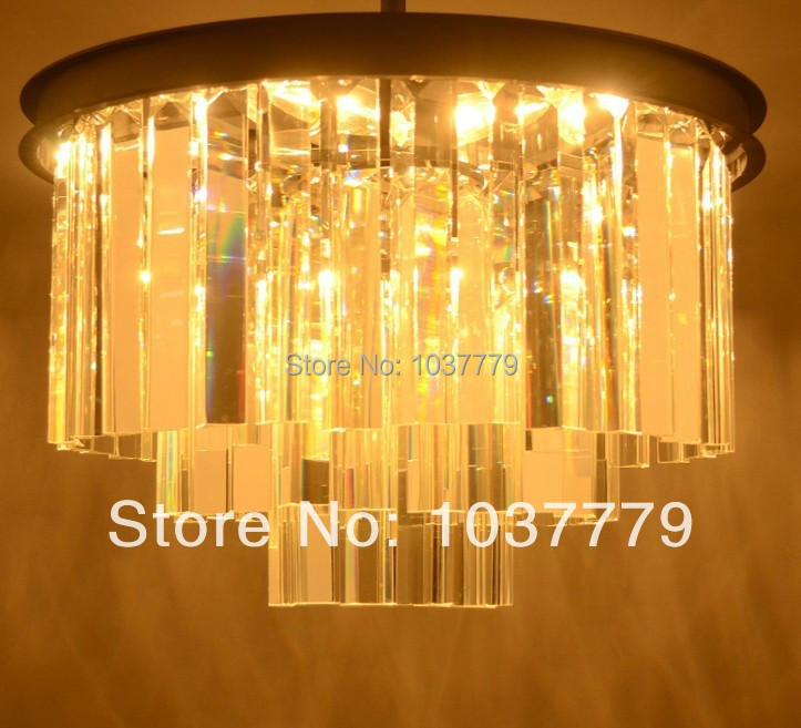 Vintage 1920 Oden 3-ring K9 glass black iron chandeliers<br><br>Aliexpress
