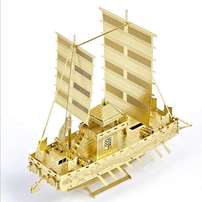 High Quality metal puzzle kids diy craft 3D Educational Jigsaw Puzzle Model Toy Battleship naval ship model battlefleet gothic(China (Mainland))