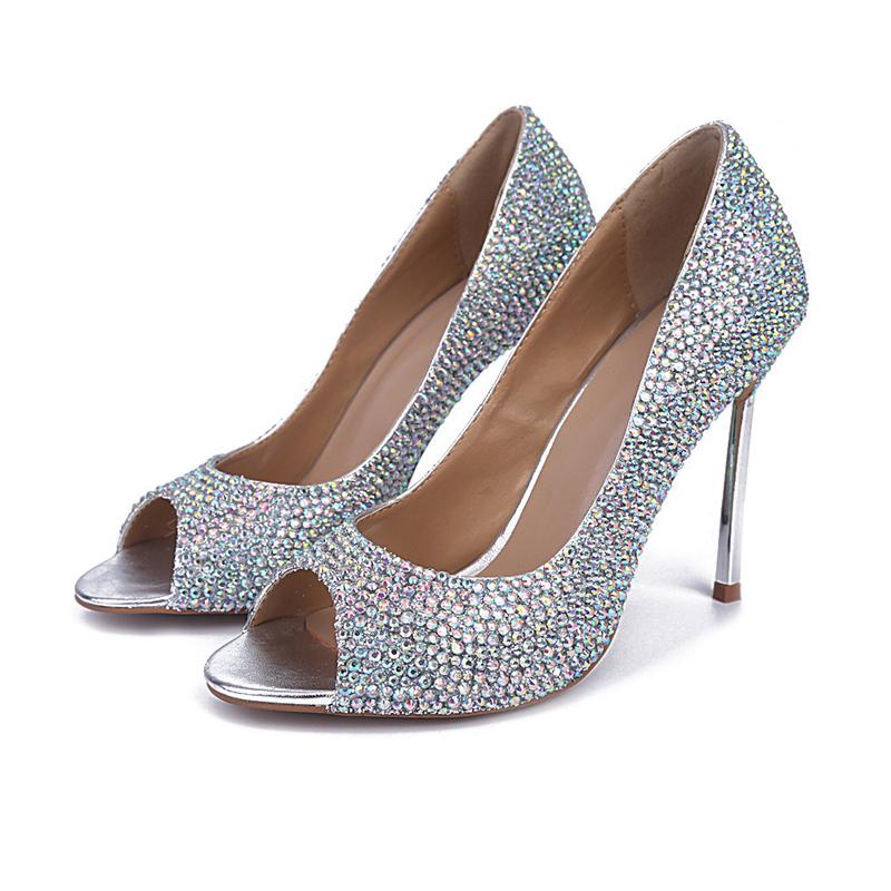 Ab Crystal Wedding Shoes