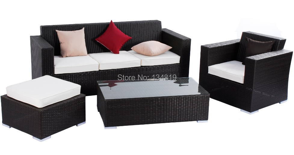 Hot Sale Outdoor Rattan Sofa Set with UV Resistant Wicker (SF-016)(China (Mainland))