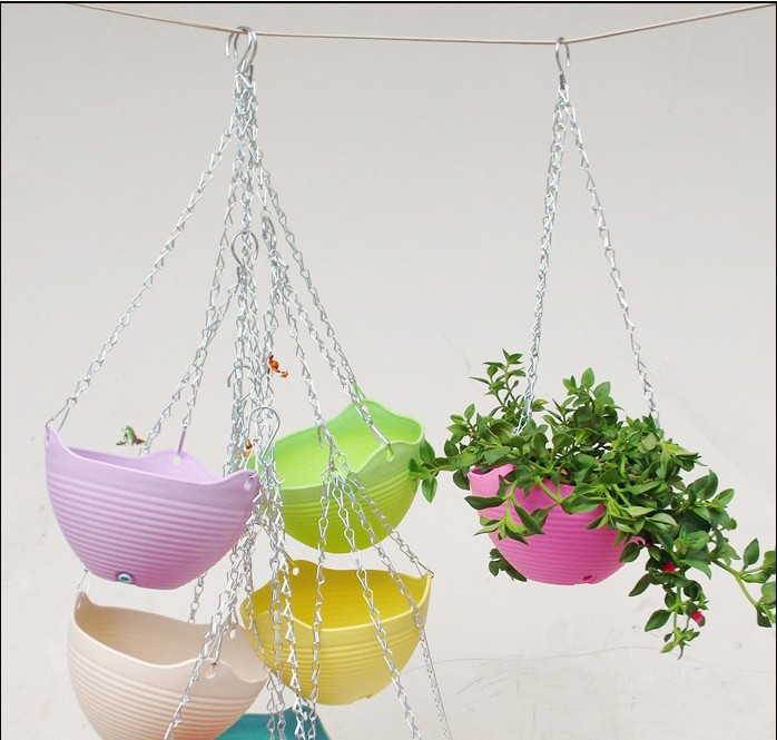 Garden supplies hanging basket colorful decorative flower for Colorful hanging planters