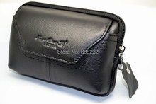 """2015 Brand New Free Shipping Original Doogee Titans2 DG700 4.5"""" Smartphone Genuine Leather Belt Pouch Bag Case Holster Cover(China (Mainland))"""