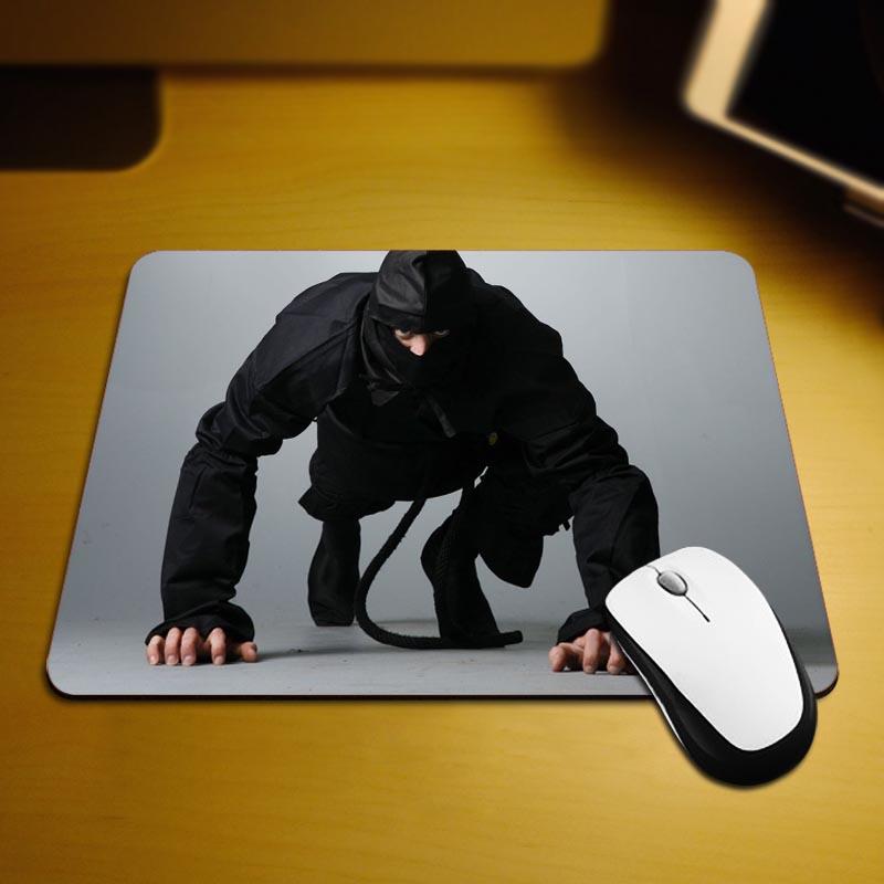Ninja Training Mouse Pad Fashion Computer Notebook Gaming Mice Mat 18*22cm and 25*29cm Mouse Mat(China (Mainland))