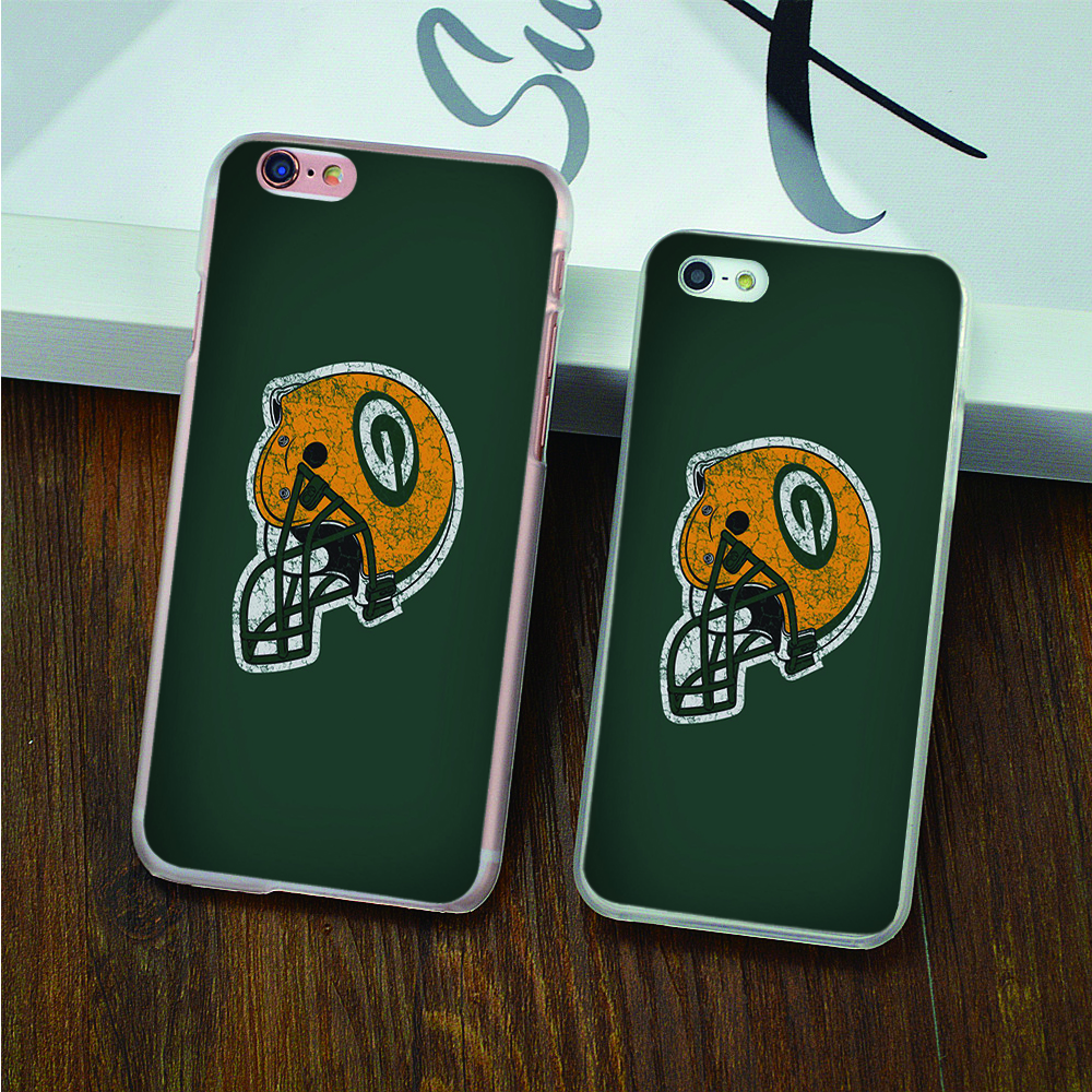 the green bay packers hard transparent black white skin Case for iPhone 4 4s 5 5s 5c SE 6 6s 6 Plus 6s Plus phone cover shell(China (Mainland))