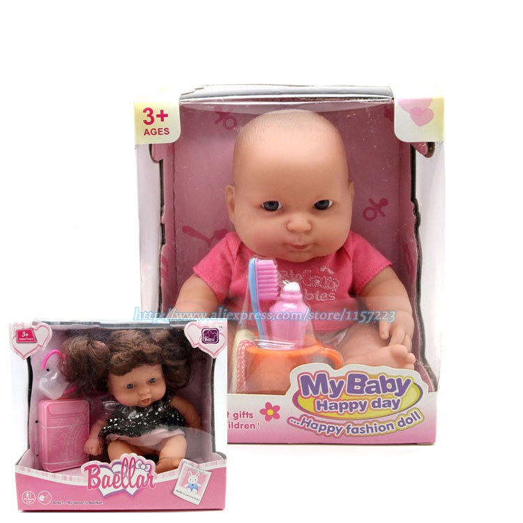 Free shipping TOP QUALITY 28cm High Ultra - Simulation Silicone Reborn Baby Doll Baby Girl Dolls Same Quality As Adora